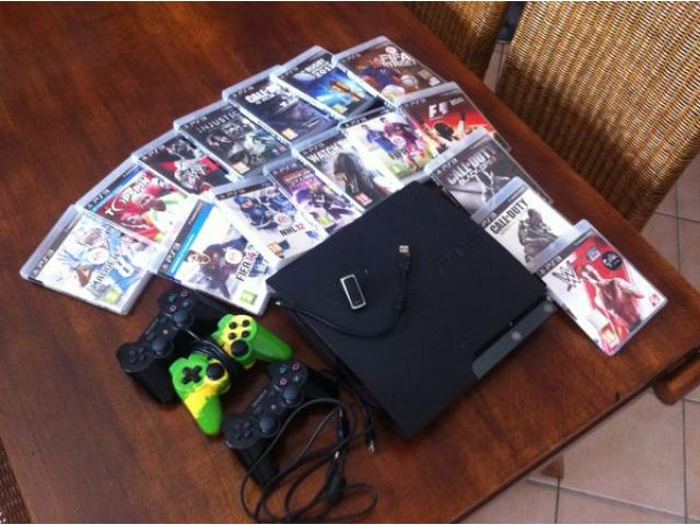 PACK PS3 + 17 GAMES + 3 HANDLES