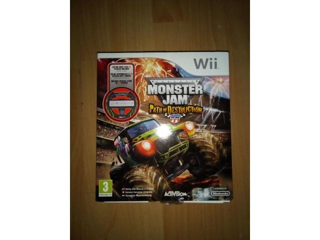 Monster Jam - Path of Destruction + New Wii Wheel